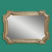 Bassett Mirror Company M2804 Angelica Mirror in Silver & Gold
