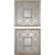 Set of 2 Uttermost Silver Sorbolo Decorative Wall Mirrors 13808