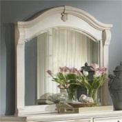 American Woodcrafters 2900-040 Landscape Mirror in Black with Rub