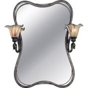 Kenroy Home OS70137 Shamash Tuscan Silver 2-Light Vanity Mirror