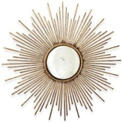 Two's Company 2137 Sunburst Antiqued Gold Wall Mirror