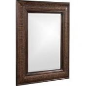 Universal Lighting and Decor 37045 Grant Textured Copper 99cm High Wall Mirror