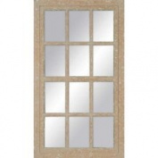 Paragon Aged Painted Windowpane 26x47 Mirror 8873