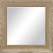 Paragon Beaded Washed Gold Modern 44x44 Mirror 8738
