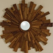 Global Views 9.90855 Industrial Wooden Transitional Mirror