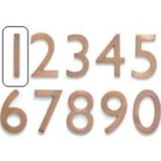 Architectural Mailboxes 3582AC-1 Solid Cast Brass 4 inch Floating House Number Antique Copper 1