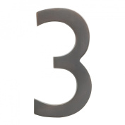 Architectural Mailboxes 3582DC Number 3 Solid Cast Brass 4 inch Floating House Number Dark Aged Copper 3