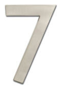 Architectural Mailboxes 3582SN Number 7 Solid Cast Brass 4 inch Floating House Number Satin Nickel 7