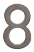 Architectural Mailboxes 3582DC Number 8 Solid Cast Brass 4 inch Floating House Number Dark Aged Copper 8
