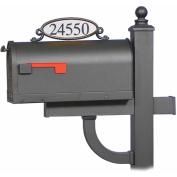 Solar Group MBPLAQ0B Decorative Oval Mailbox Address Plaque, Black