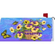 Custom Decor 0973mm Mailbox Art Pansy Basket by 18X21