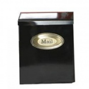XL Blk Wall Mailbox