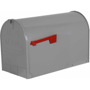 Solar Group ST 75.7lanized Steel Rural Mailbox, Grey