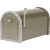 Architectural Mailboxes 5501Z Bellevue Mailbox with Powder Coat Platinum Accents - Bronze