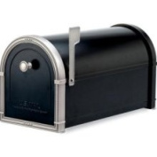 Architectural Mailboxes 5504B Coronado Mailbox with Antique Nickel Accents - Black