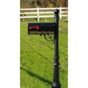 Qualarc Lewiston Fluted Base and Ball Finial Post Mailbox Colour