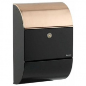 Qualarc Allux 3000 Locking Wall Mount Mailbox - Black with Copper
