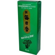 Morning Star, Cedarwood Incense, 200 Sticks & Holder