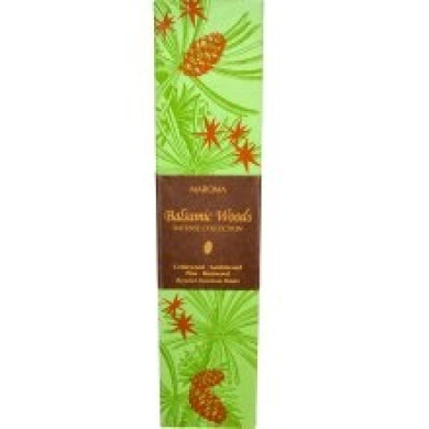 Maroma Balsamic Woods Incense Collection with Holder Kit