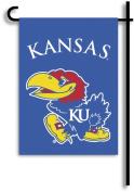 BSI Kansas Jayhawks Double Sided Garden Flags - Set of Two