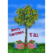 Custom Decor Tropical Palmetto Palm Tree Christmas Garden Flag