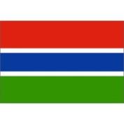 Eder Gambia 0.61m x 0.91m Nylon Flag - Outdoor