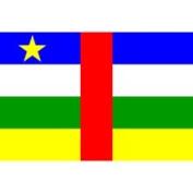 Eder Central African Republic 0.61m x 0.91m Nylon Flag - Outdoor