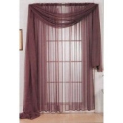 Chocolate 213cm Sheer Curtain