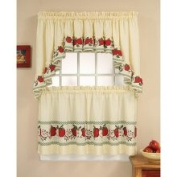 Chf Industries Red Delicious Apple 3-Piece Curtain Tier/ Swag Set