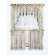 Seascape Textured Sheer Printed Swag