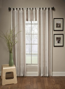 Delray Stripe Tailored Curtain panel, 50 x 84