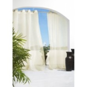 Commonwealth Home Fashions Outdoor Décor Escape Outdoor Sheer Grommet Top Curtain Panel in Natural Size