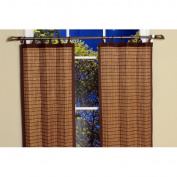 Versailles Home Fashions Bamboo Ring Top Tiers in Colonial Size