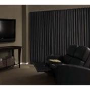 Absolute Zero Absolute Zero Velvet Blackout Home Theatre Curtain Panel Size