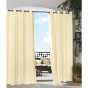 Commonwealth Home Fashions Outdoor Décor Gazebo Outdoor Solid Grommet Top Curtain Panel in Natural Size