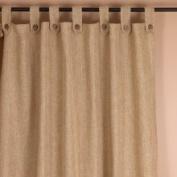 Saro Classic Natural Tab-Top 239cm Curtain Panel