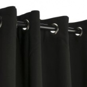 Sunbrella Outdoor Curtain with Grommets -Nickle Grommets - Black 137cm x 213cm