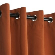 Sunbrella Outdoor Curtain with Grommets -Nickle Grommets - Rust 137cm x 213cm