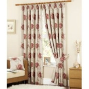 Curtina Cotswold 7.6cm Lined Curtain, 229cm x 183cm , Red