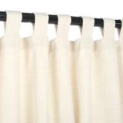 Sunbrella Outdoor Curtain with Tabs - Dupione Pearl - 137cm x 274cm 137cm x 274cm