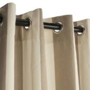 Sunbrella Outdoor Curtain with Grommets -Nickle Grommets-Regency Sand 137cm x 274cm
