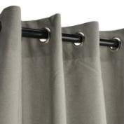 Sunbrella Outdoor Curtain with Grommets -Nickle Grommets - Dove 137cm x 274cm