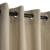 Sunbrella Outdoor Curtain with Grommets -Nickle Grommets-Antique Beige 137cm x 305cm