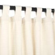 Sunbrella Outdoor Curtain with Tabs - Dupione Pearl - 137cm x 305cm 137cm x 305cm