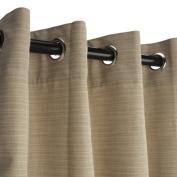 Sunbrella Outdoor Curtain-Nickle Grommets-Dupione Sand 137cm x 305cm