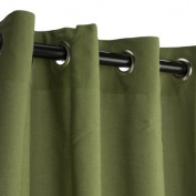 Sunbrella Outdoor Curtain with Grommets -Nickle Grommets - Cilantro 137cm x 305cm