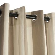 Sunbrella Outdoor Curtain with Grommets-Nickle Grommets-Regency Sand 137cm x 305cm