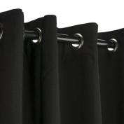 Sunbrella Outdoor Curtain with Grommets -Nickle Grommets - Black 137cm x 305cm