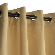Sunbrella Outdoor Curtains-Nickle Grommets-Wheat 137cm x 305cm