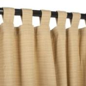 Sunbrella Outdoor Curtain with Tabs - Dupione Bamboo - 137cm x 305cm 137cm x 305cm